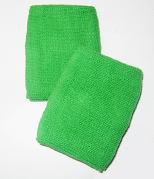 bright green wristband bright color sweatband!