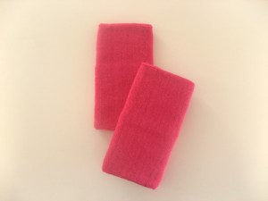 extra long 6inch terry wristband hotpink