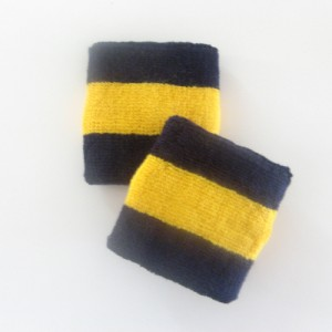 navy golden yellow navy terry athletic wristband smaller size