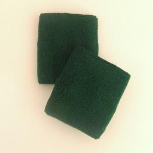 Dark green athletic terry wristband