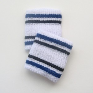 blue and black stripes  white cheap wristbands