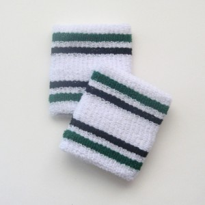 Green and black stripes cheap wrist bands