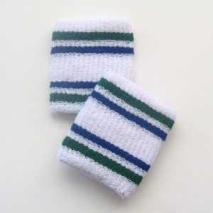 Green and blue stripes cheap wristbands cotton