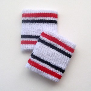 red and black stripes cheap wrist band cotton