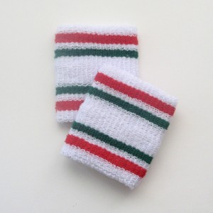 Red and green stripes cheap wristbands