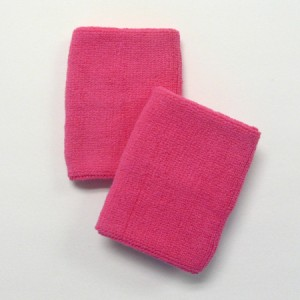 bright pink sports sweat wristband