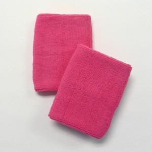 bright pink sports sweat wristband