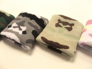 camouflage wristbands zoomed