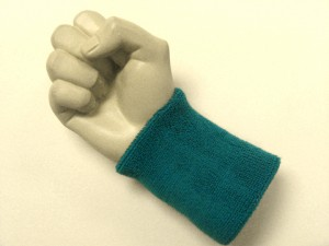 teal wristband sweatband