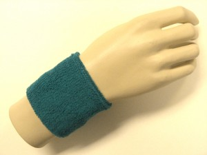 teal youth wristband sweatband