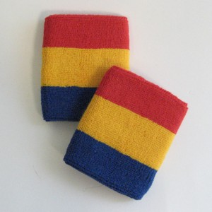 blue_golden_yellow_red_sweat_athletic_wristbands