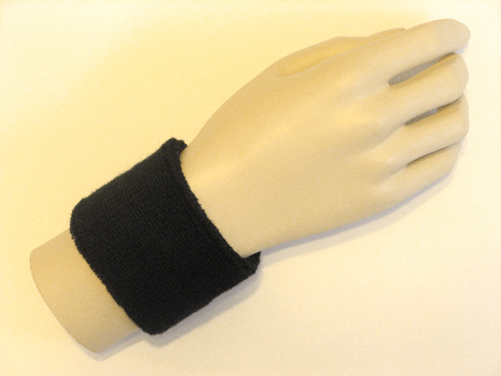 Black Sports Wristbands