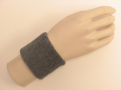 Charcoal Gray Sports Wristbands