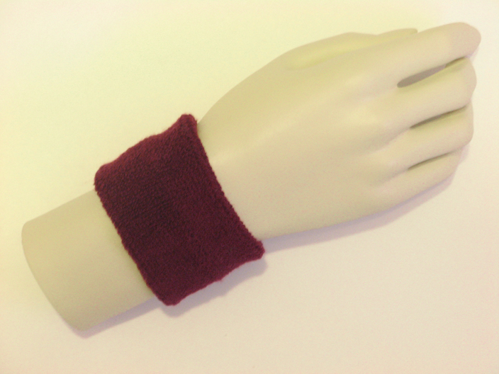 Maroon Burgundy Sports Wristbands