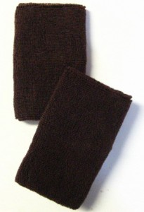 Brown Long Athletic Wristbands