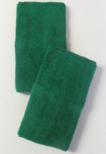 Green Long Athletic Wristbands