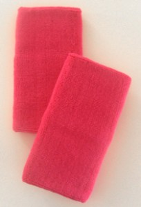 Pink Long Athletic Wristbands