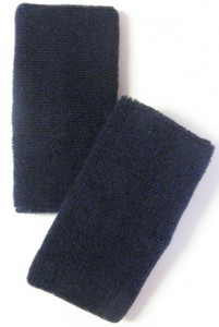 Navy Blue Long Athletic Wristbands