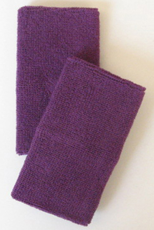 Purple Long Athletic Wristbands