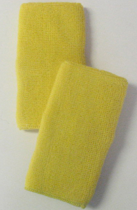 Yellow Long Athletic Wristbands
